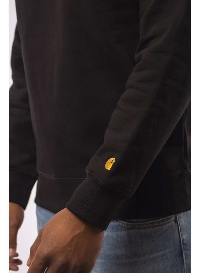 Carhartt - Chase Sweat - Black/ Gold