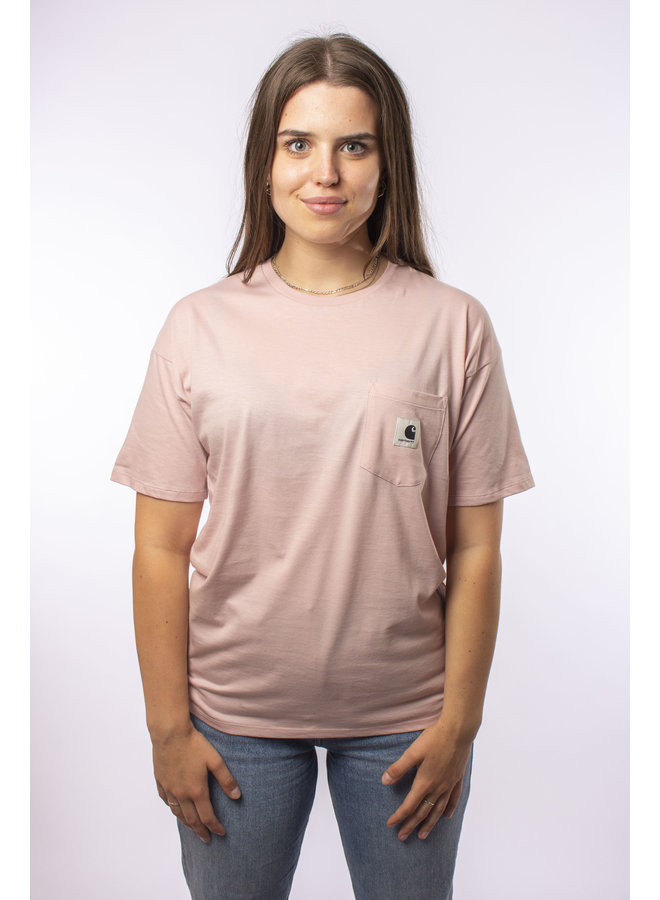 W' S/S Carrie Pocket T-Shirt - Frosted Pink