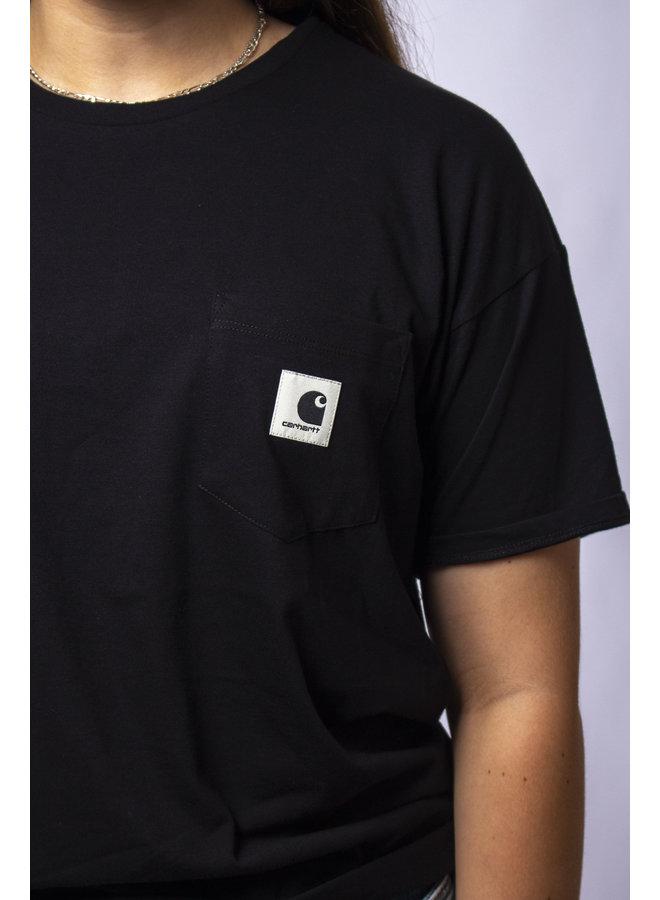 W' S/S Carrie Pocket T-Shirt-Black
