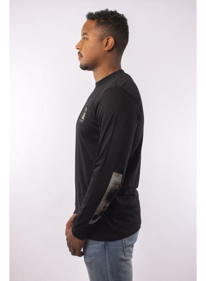 Carharrt - L/S Reflective Headlight T- S - Black/ Reflective Grey
