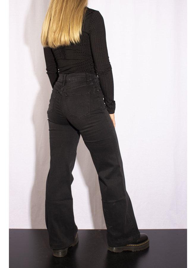 Wide Leg Trouser - Black