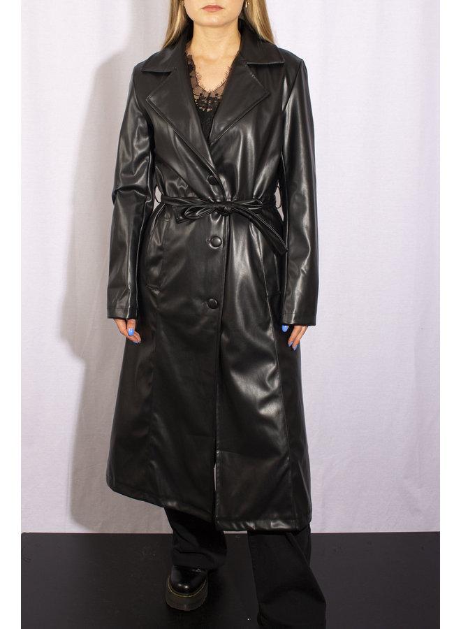 Leather Trenchcoat - Black