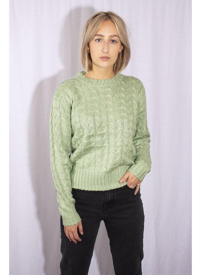 Cable Knit - Mint