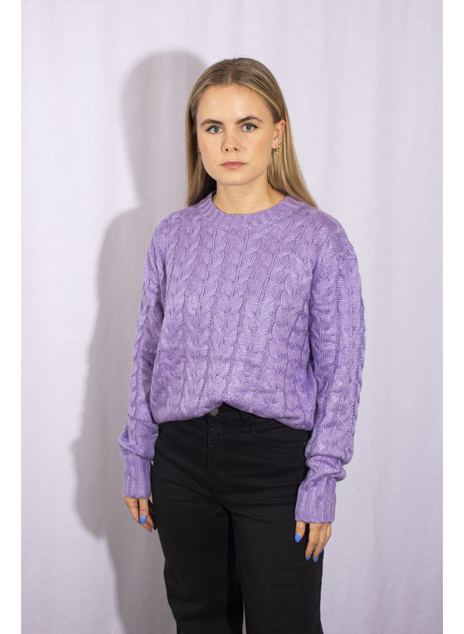 Cable Knit - Lilac