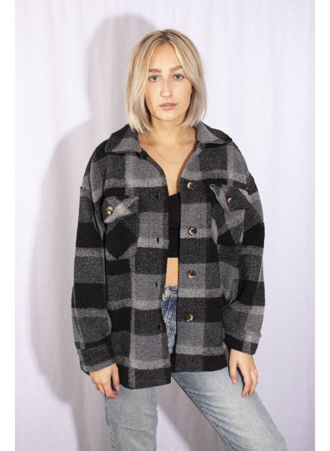 Plaid Jacket - Grey