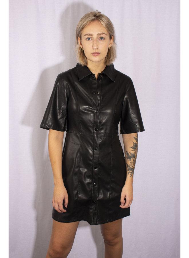 Rut&Circle - Petra Pu Dress - Black