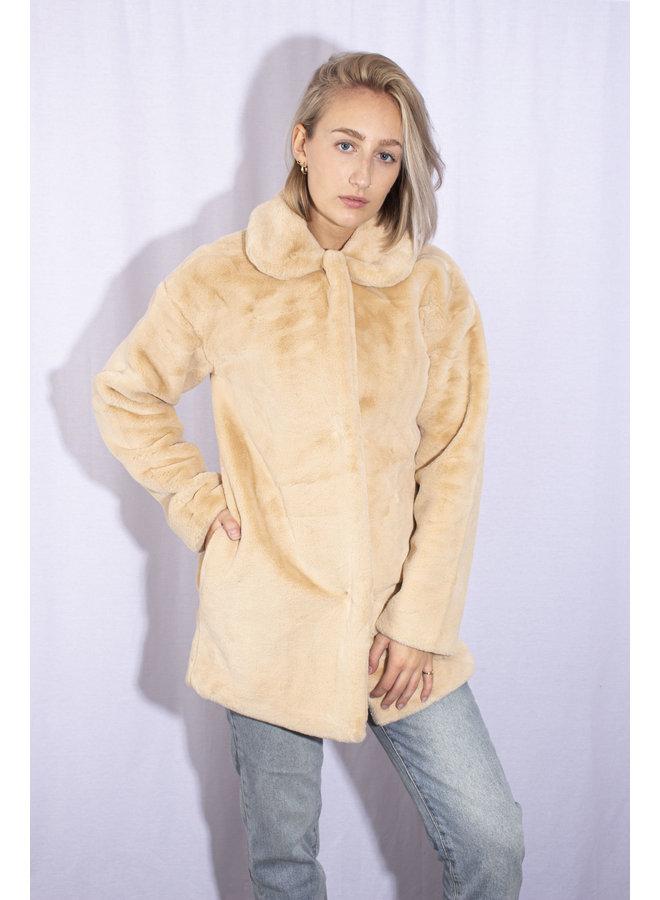 Rut&Circle - Tanja Faux Fur Coat - Beige