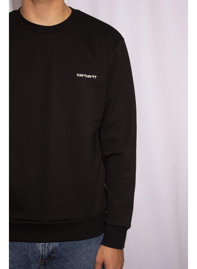 Carhartt - Script Embroidery Sweat - Black/White