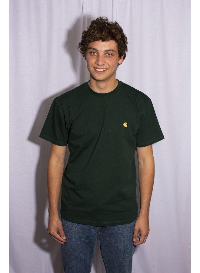 Carhartt - S/S Chase T- Shirt - Bottle Green/ Gold