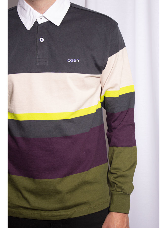 Obey - Benny Polo LS - Navy Multi
