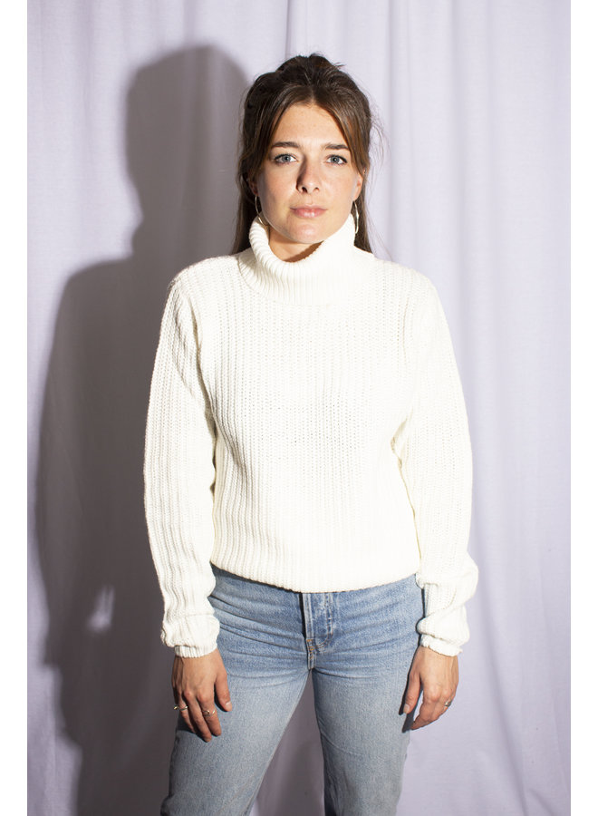 Rut & Circle - Tinelle Rollneck Knit - Off White