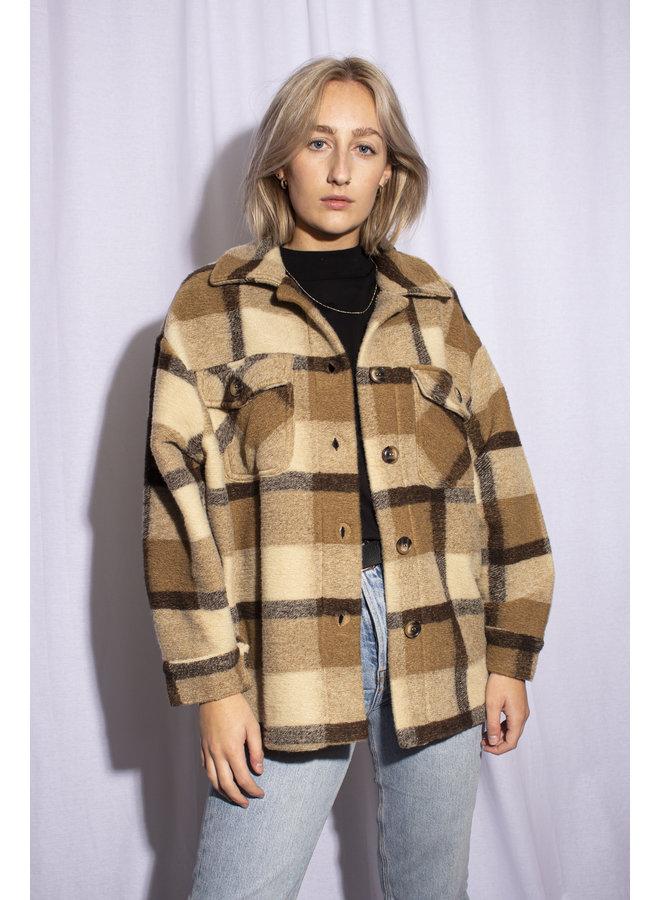 Plaid Jacket - Beige