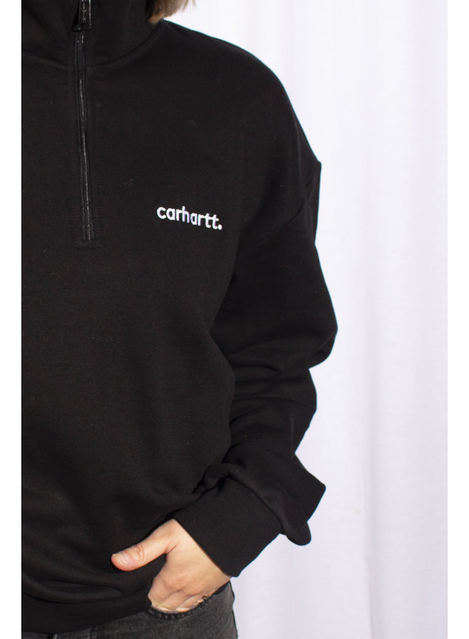 Carhartt - W' Typeface Highneck Sweat - Black/ White