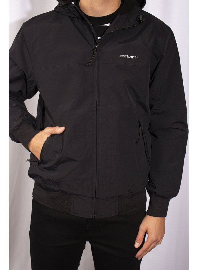 Carhartt - Hooded Sail Jacket - Black/ White