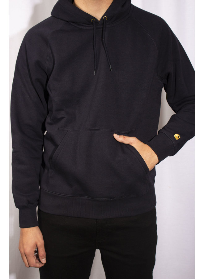 Carhartt - Hooded Chase Sweat - Dark Navy/ Gold