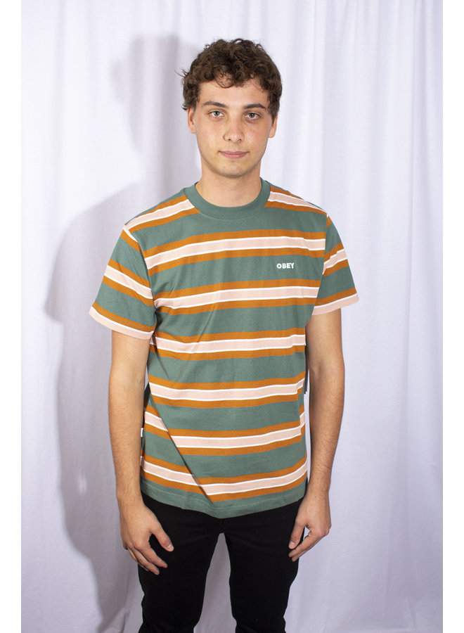 Obey - Logan Tee SS - Green Multi
