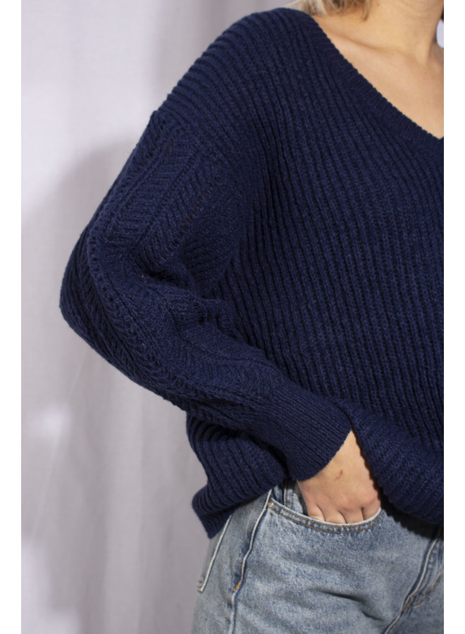 Faye Sweater - Marine Blue