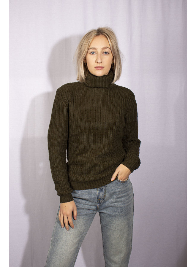 Rut & Circle - Tinelle Rollneck Knit - Army Green