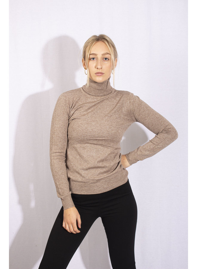 Col Sweater - Brown