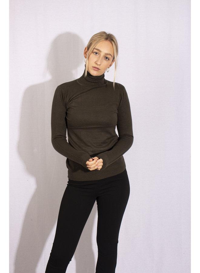 Col Sweater - Dark Green