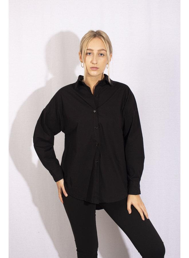 Oversized Black Shirt SHORT