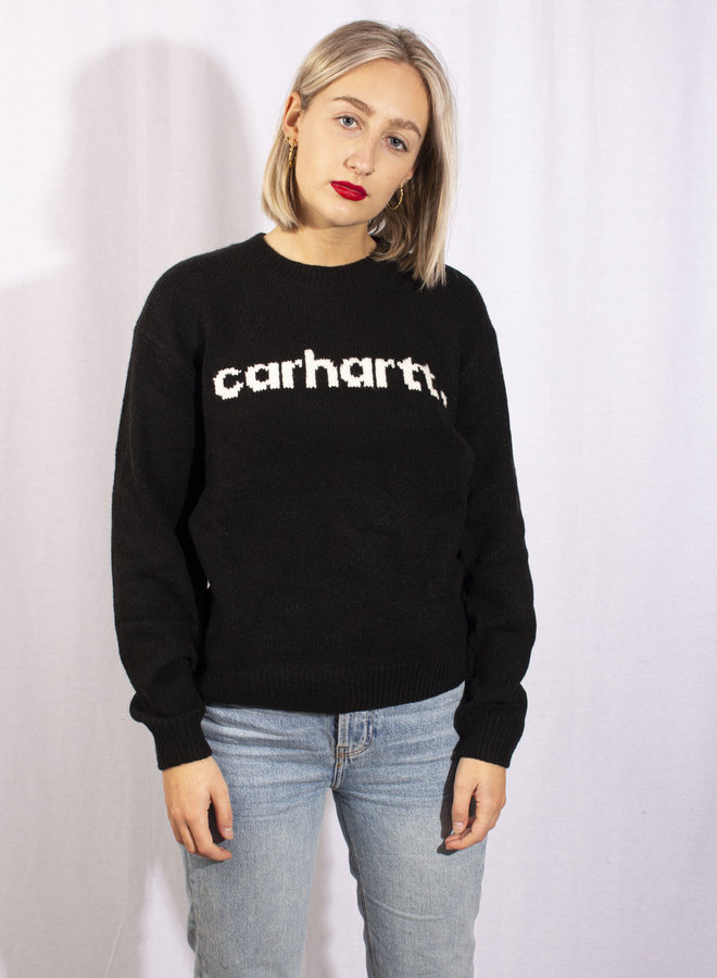 Carhartt - W' Typeface Sweater - Black/ Wax