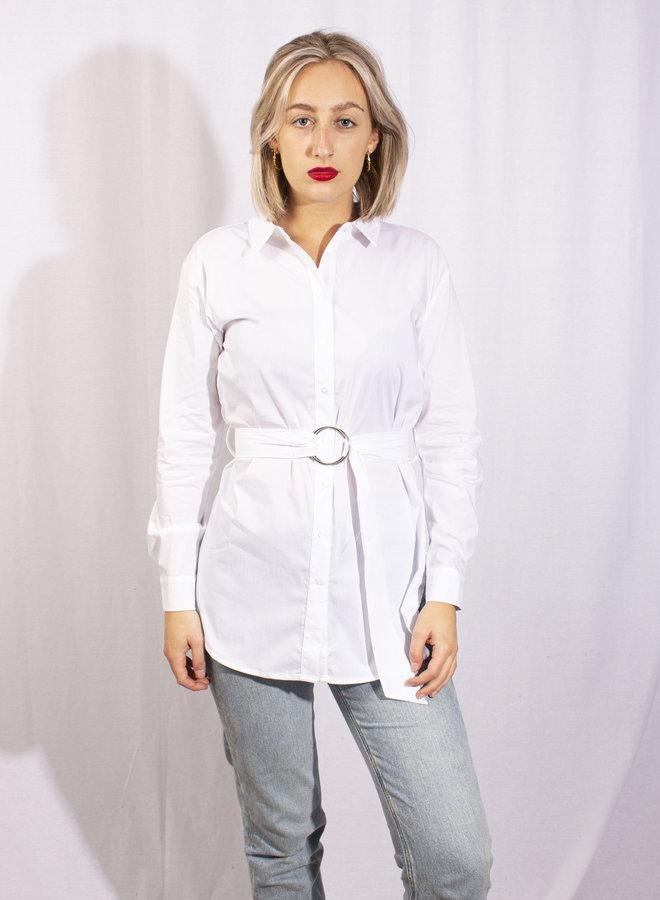 Rut & Circle - Luna Belt Shirt - White