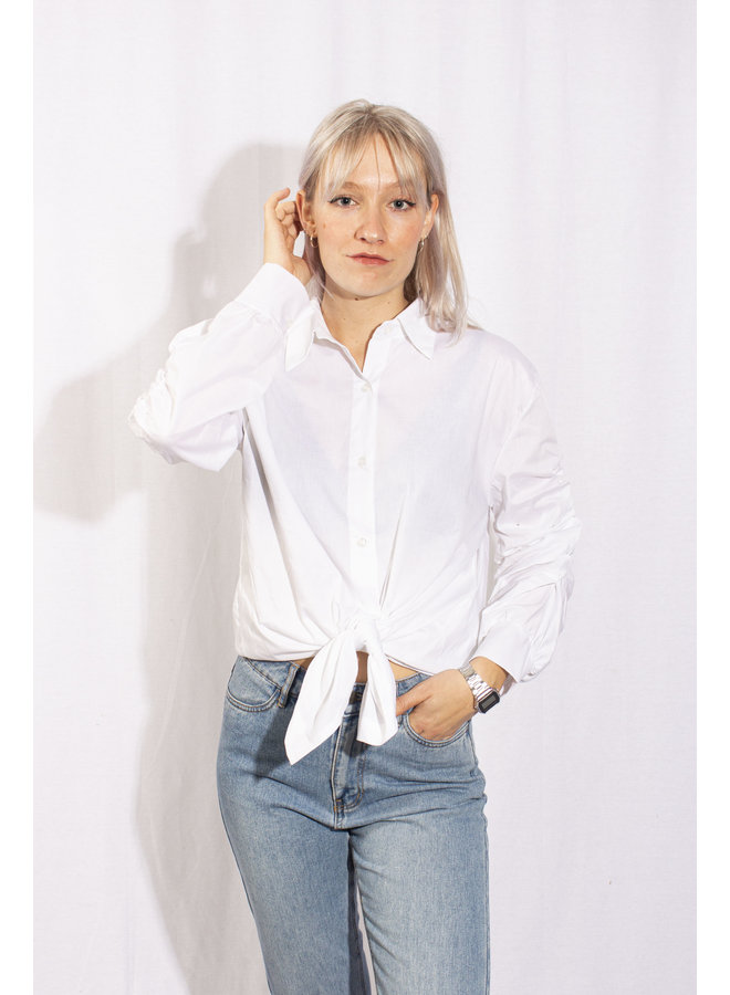 Drawstring Shirt - White