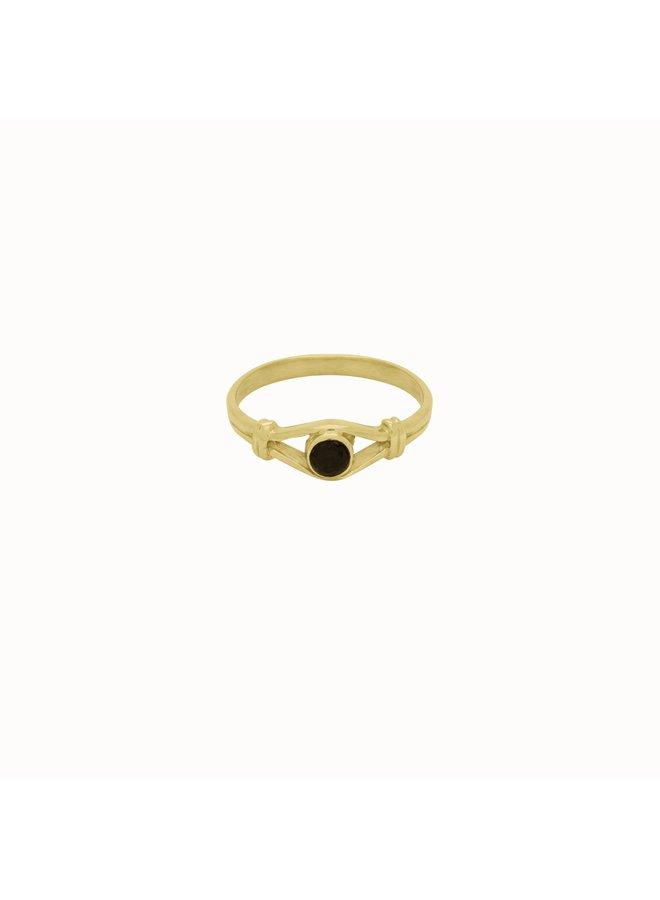 Black Eye Ring Gold