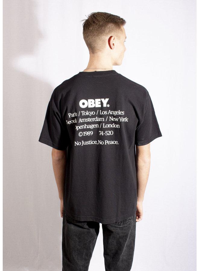 Obey - No Justice, No Peace - Black