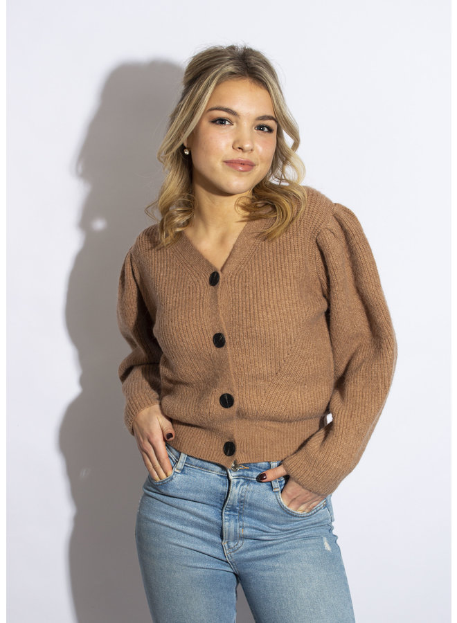 Blown Away Cardigan - Brown