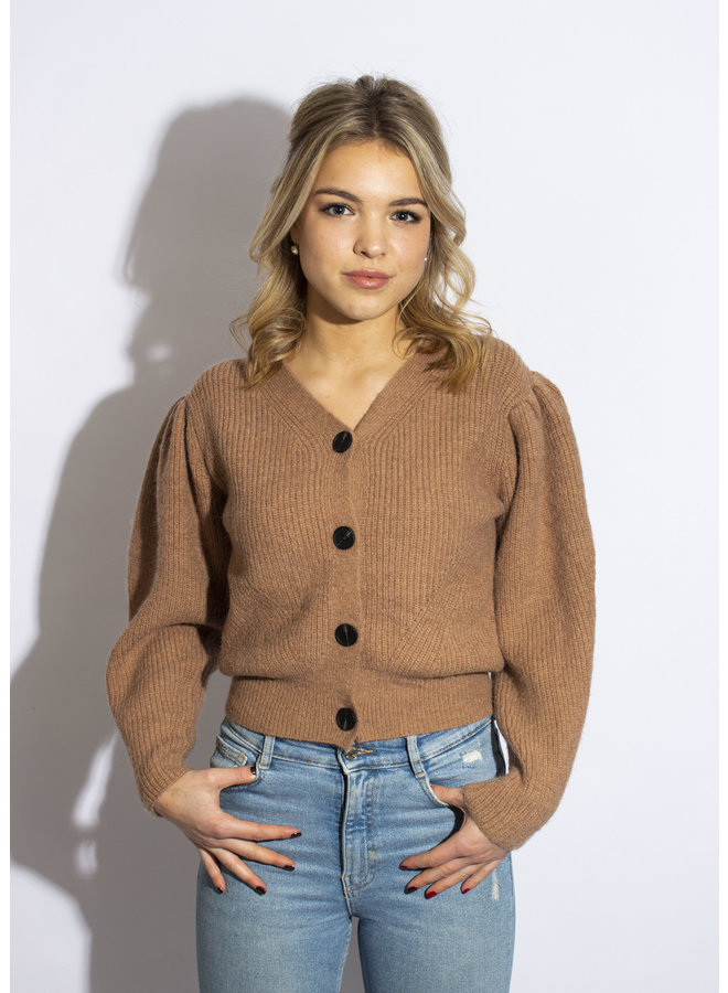 Blow Away Cardigan - Brown