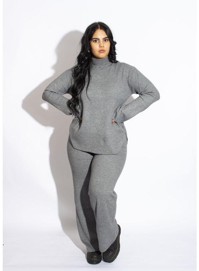 Rut & Circle - Maja Knit Pants - Grey Melange