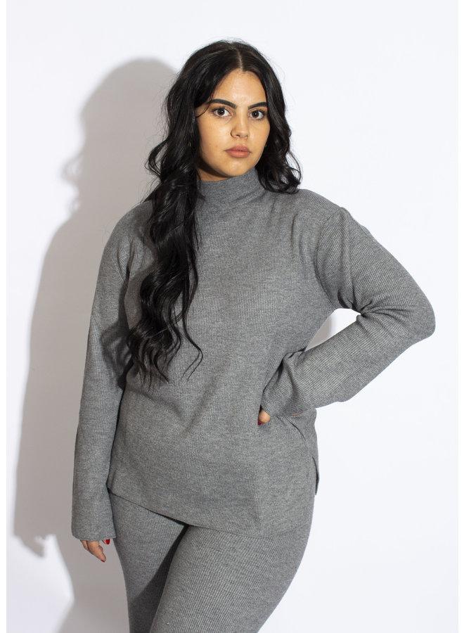 Rut & Circle - Maja Knit Top - Grey Melange