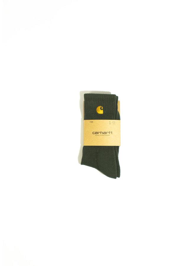 Carhartt - Chase Socks - Bottle Green/ Gold