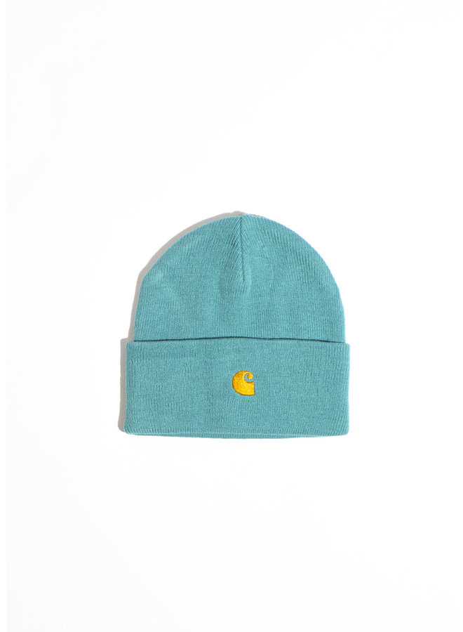Carhartt - Chase Beanie - Frosted Turquoise/ Gold