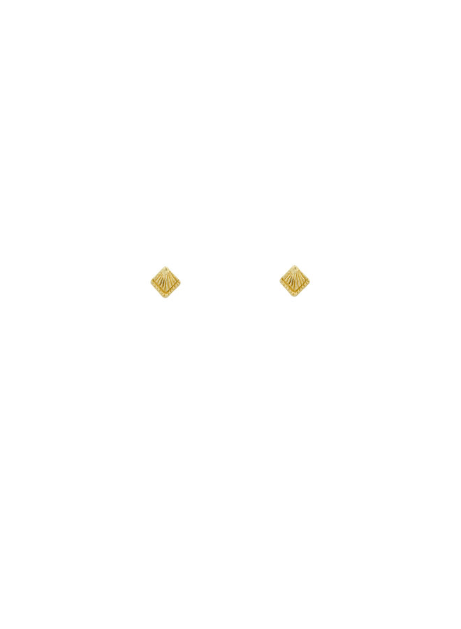 Flawed - Sunburst Stud - Gold Plated