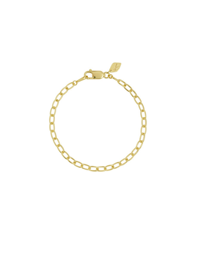 Flawed - Oval Eye Bracelet - Gold Plated