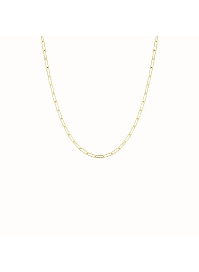 Flawed - Square Chain Necklace - Gold Plated