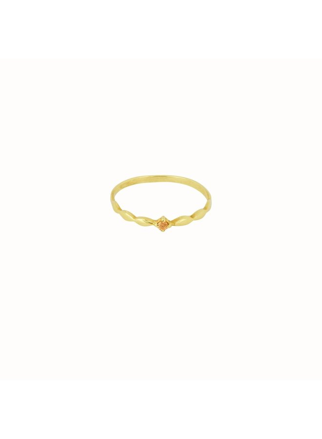 Flawed - Keepsake Ring Champagne - Gold Plated