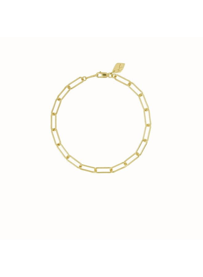 Flawed - Square Chain Bracelet - Gold Plated