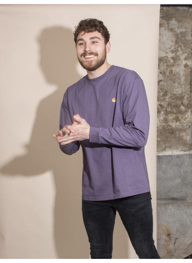 Carhartt Men - L/S Chase T-shirt - Provence/Gold
