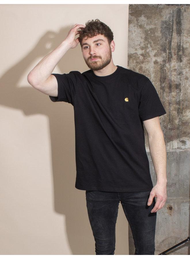 Carhartt Men - S/S Chase T-shirt - Black/Gold