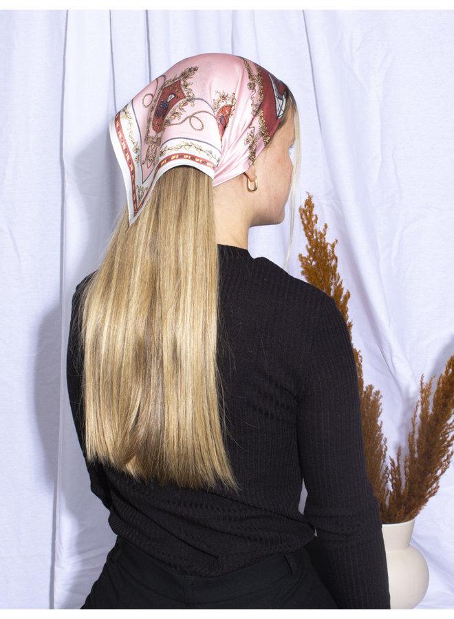 Satin Headscarf - Pink