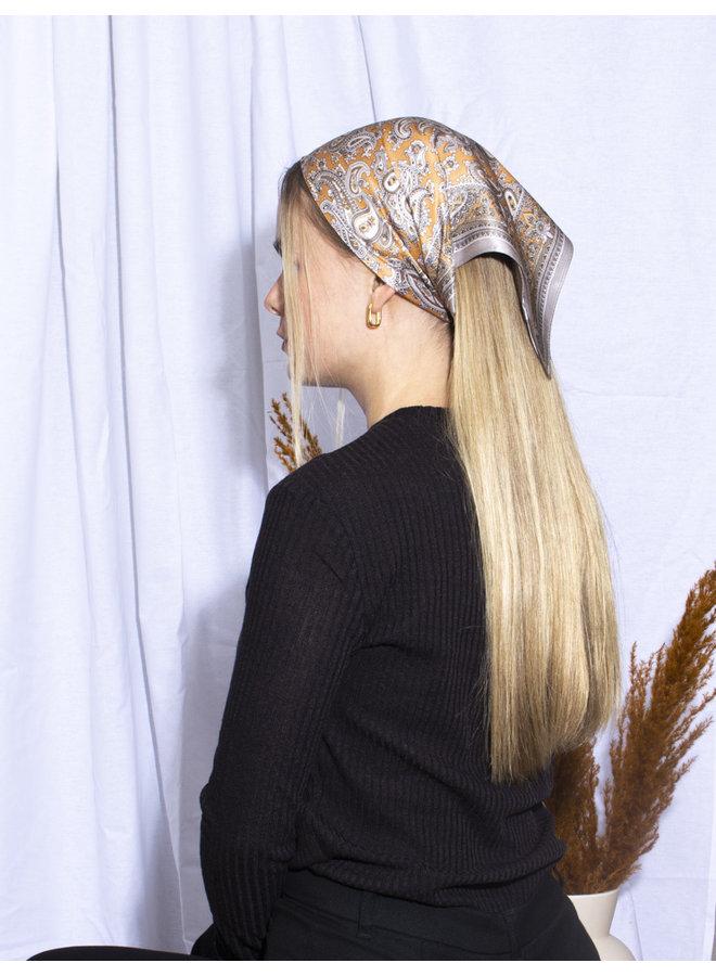 Satin Headscarf - Orange