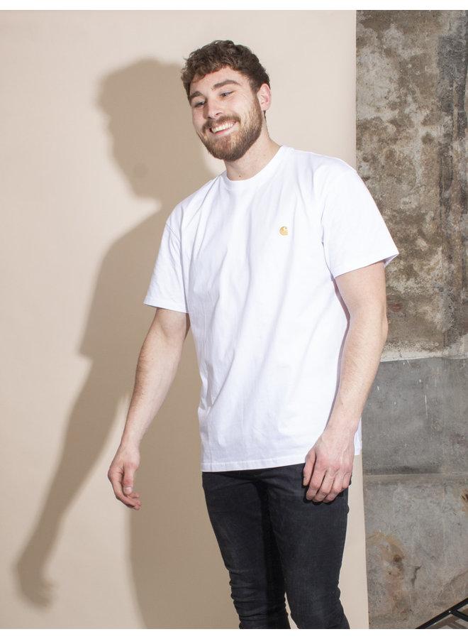 Carhartt Men - S/S Chase T-shirt - White/Gold