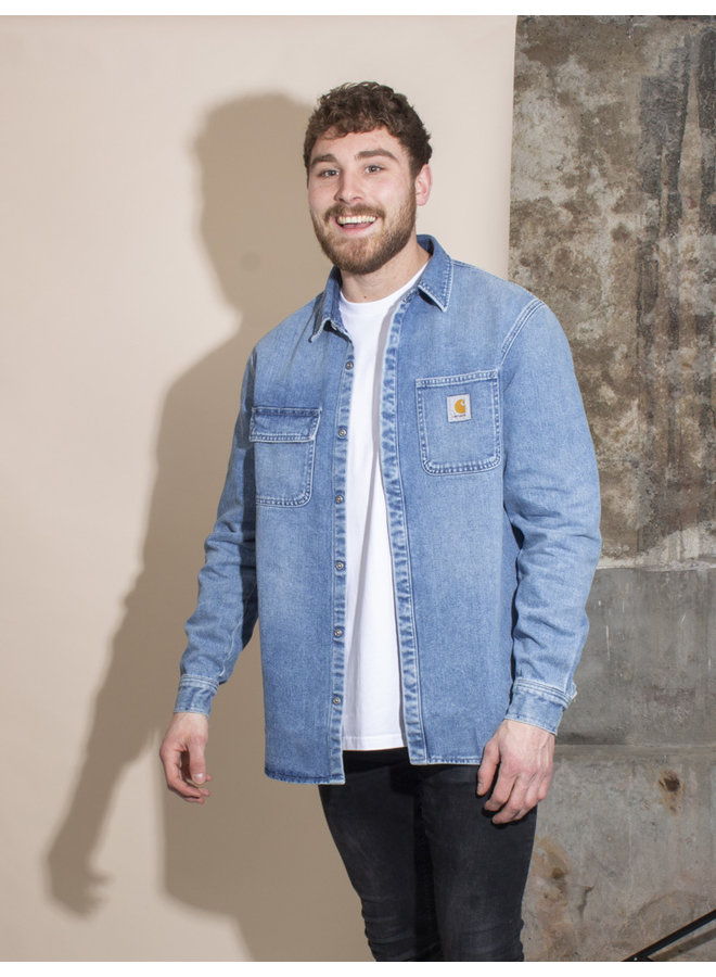 Carhartt Men - Salinac Shirt - Blue Worn Bleached