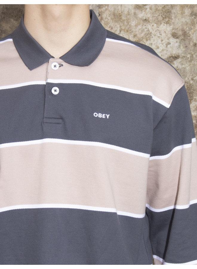 Obey Men - Marlon Polo LS - Full Indigo Multi