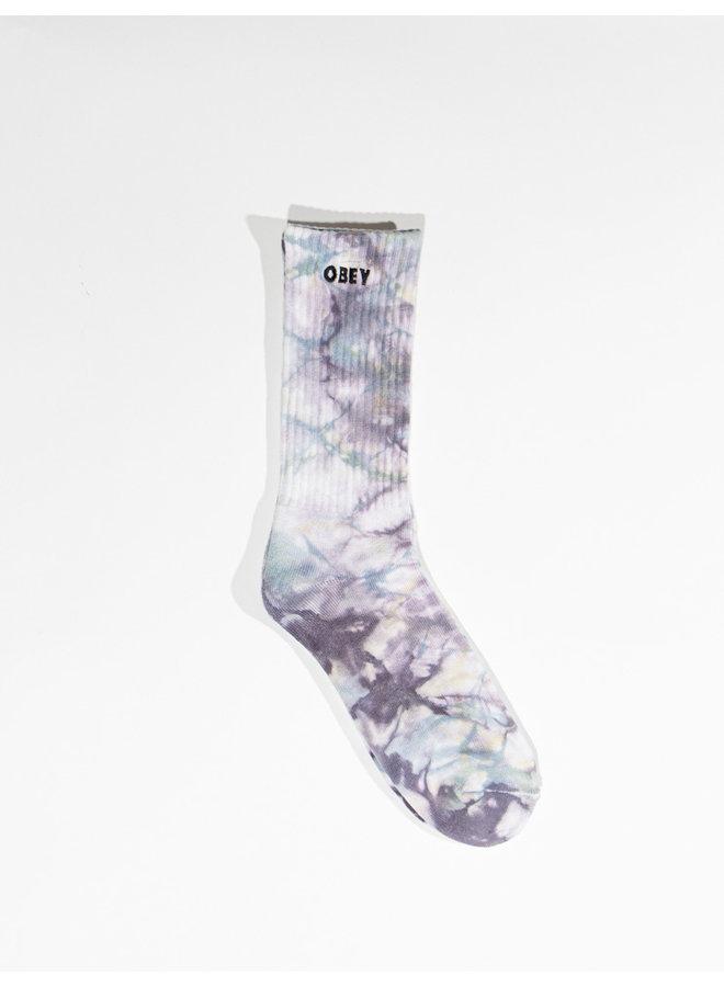 OBEY - Mountain Socks - Purple Nitro Multi