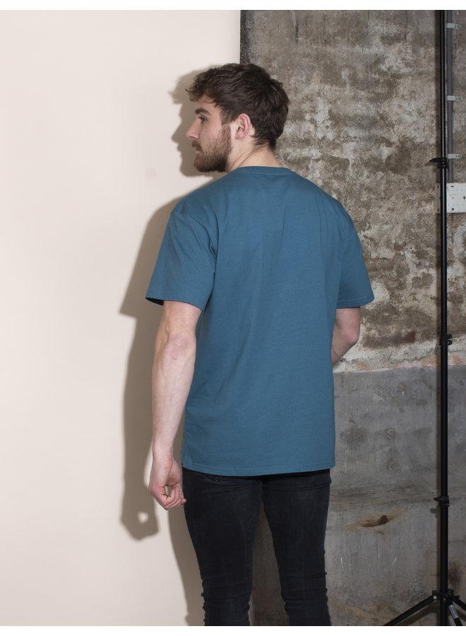 Carhartt Men - S/S Chase T-shirt - Hydro/Gold